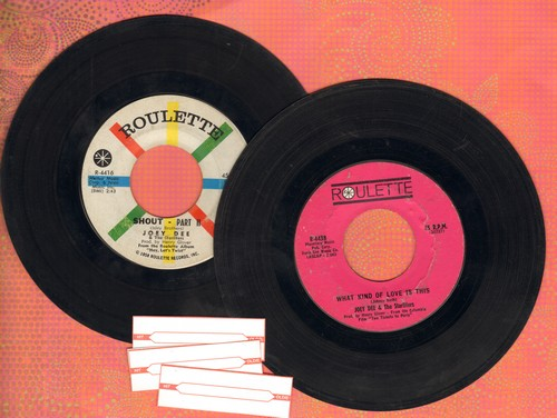 Dee, Joey - 2 for 1 Special: Peppermint Twist/Hey, Let's Twist (2 vintage first issue 45rpm records for the price of 1!) - VG7/ - 45 rpm Records