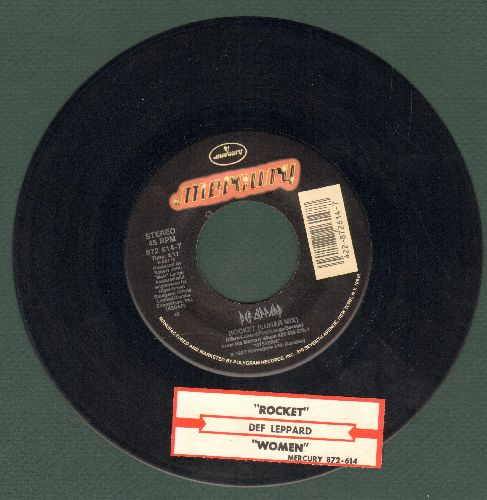 Def Leppard - Rocket (Lunar Mix)/Women (LIVE) (with juke box label) - NM9/ - 45 rpm Records