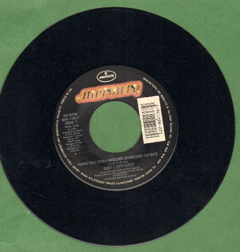 Def Leppard - Have You Ever Needed Somone So Bad/Elected (LIVE) - EX8/ - 45 rpm Records