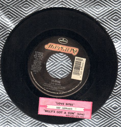 Def Leppard - Love Bites/Billy's Got A Gun (LIVE Version) (with juke box label) - EX8/ - 45 rpm Records