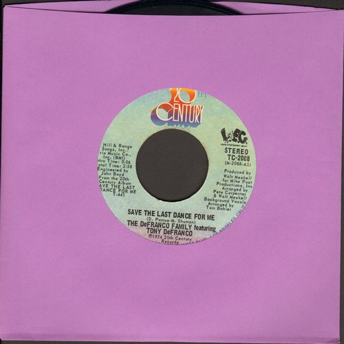 De Franco Family - Save The Last Dance For Me/Because We Both Are Young  - VG7/ - 45 rpm Records