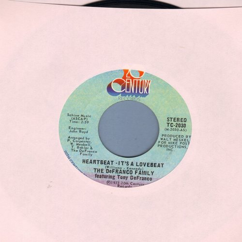 De Franco Family - Heartbeat, It's A Lovebeat/Sweet, Sweet Loretta - M10/ - 45 rpm Records