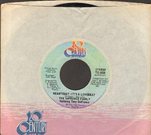 De Franco Family - Heartbeat, It's A Lovebeat/Sweet, Sweet Loretta (with company sleeve) - EX8/ - 45 rpm Records