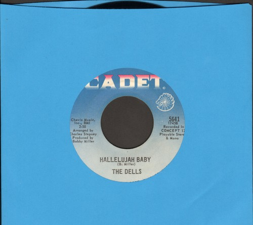 Dells - Hallelujah Baby/Medley: Can Sing A Rainbow - NM9/ - 45 rpm Records