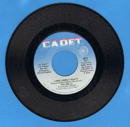 Dells - Long Lonely Nights/A Little Understanding (light blue label) - EX8/ - 45 rpm Records