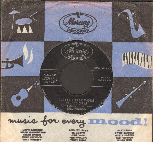 Del Vikings - You Cheated/Pretty Little Things Called Girls (with Mercury company sleeve) - EX8/ - 45 rpm Records