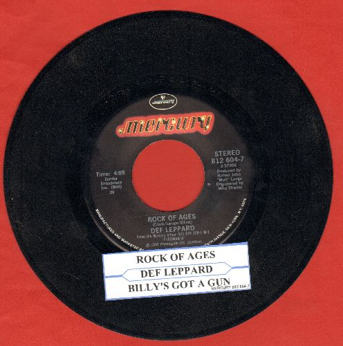 Def Leppard - Rock Of Ages/Billy's Got A Gun (with juke box label) - NM9/ - 45 rpm Records