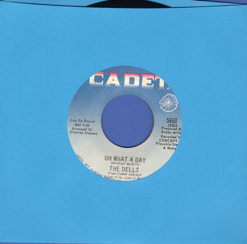 Dells - Oh What A Day/The Change We Go Thru (bb) - VG7/ - 45 rpm Records