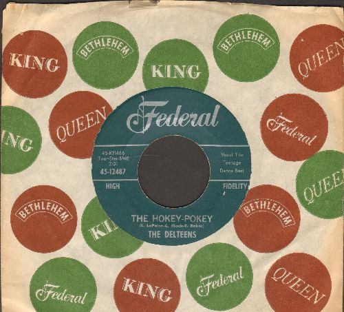 Delteens - The Hokey Pokey/The Bunny Hop (with vintage company sleeve) - NM9/ - 45 rpm Records