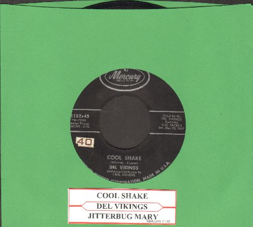 Dell Vikings - Cool Shake/Jitterbug Mary (with juke box label) - VG7/ - 45 rpm Records