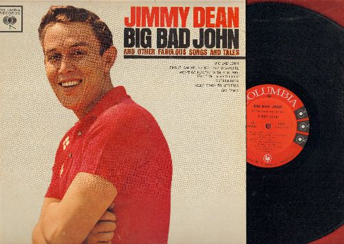 Dean, Jimmy - Big Bad John: Sixteen Tons, Smoke Smoke Smoke That Cigarette, Grasshoper Mac Clain, Night Train To Memphis, To A Sleeping Beauty (Vinyl MONO LP record) - NM9/NM9 - LP Records