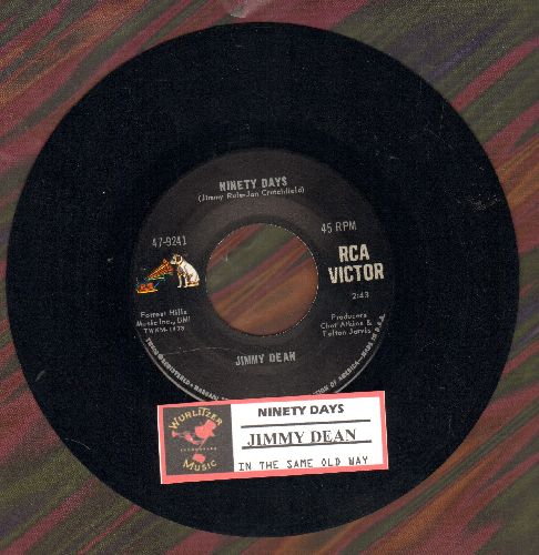 Dean, Jimmy - Ninety Days/In The Same Old Way (with juke box label) - NM9/ - 45 rpm Records