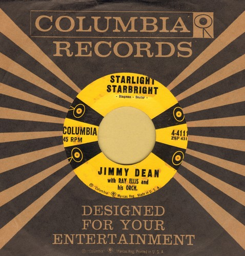 Dean, Jimmy - Starlight Starbright/Makin' My Mind Up  - NM9/ - 45 rpm Records