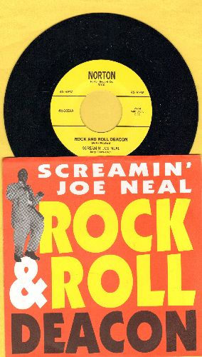 Neal, Screamin' Joe - Rock And Roll Deacon/Tell Me Pretty Baby (re-issue with picture sleeve) - NM9/NM9 - 45 rpm Records