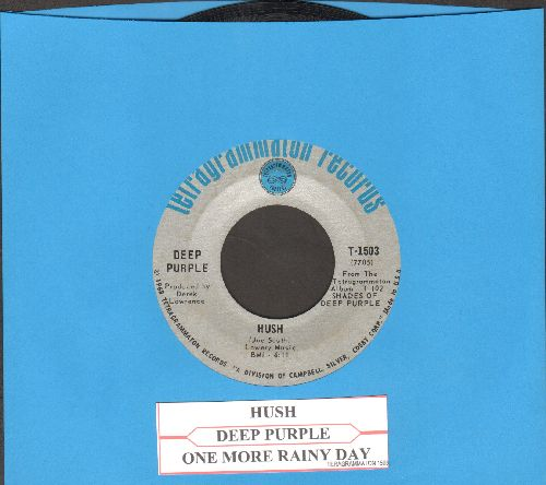 Deep Purple - Hush/One More Rainy Day (with juke box label) - EX8/ - 45 rpm Records