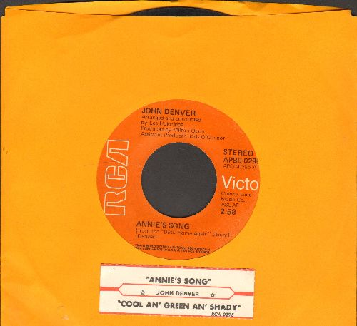 Denver, John - Annie's Song (You Fill Up My Senses)/Cool An' Green An' Shady (with juke box label) - VG7/ - 45 rpm Records