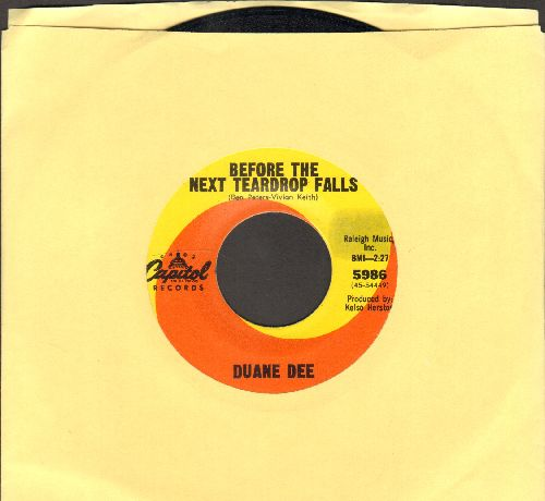 Dee, Duane - Before The Next teardrop Falls/You're Not Painting The Town - NM9/ - 45 rpm Records