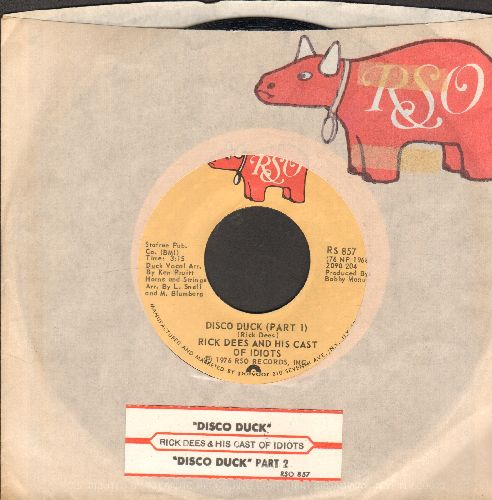 Dees, Rick - Disco Duck  (Parts 1+2) (with RSO company sleeve and juke box label) - NM9/ - 45 rpm Records