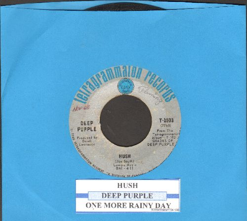Deep Purple - Hush/One More Rainy Day (with juke box label) - VG7/ - 45 rpm Records
