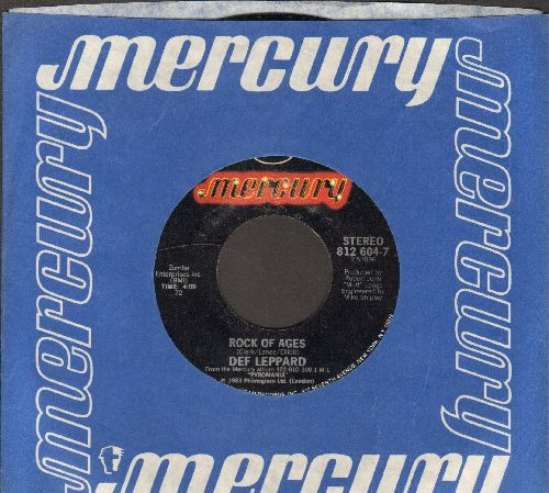 Def Leppard - Rock Of Ages/Billy's Got A Gun (with Mercury company sleeve) - NM9/ - 45 rpm Records