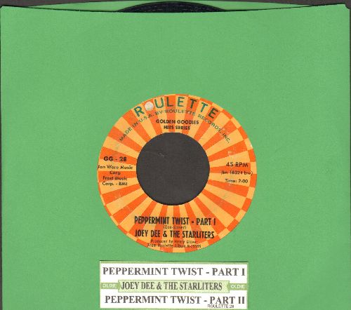 Dee, Joey & The Starliters - Peppermint Twist (Parts 1+2) (re-issue with juke box label) - EX8/ - 45 rpm Records