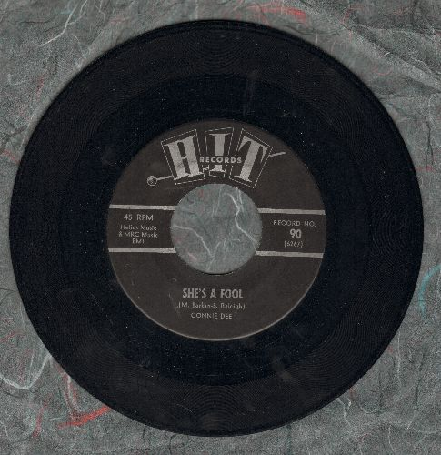 Dee, Connie - She's A Fool/It's All Right (contemporary cover versions of hits) - EX8/ - 45 rpm Records