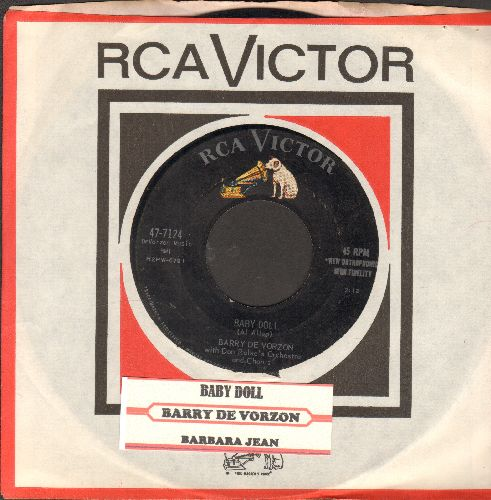 De Vorzon, Barry - Baby Doll/Barbara Jean (with juke box label and RCA company sleeve) - EX8/ - 45 rpm Records