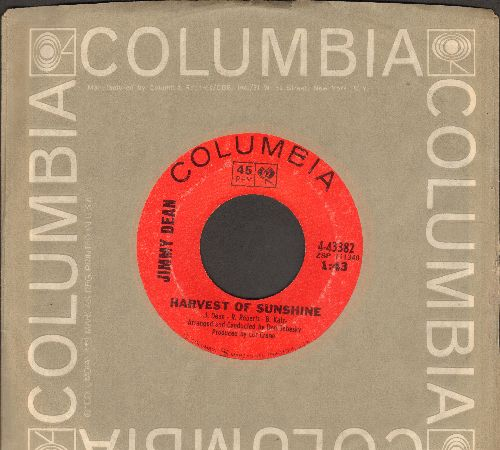 Dean, Jimmy - Harvest Of Sunshine/Under The Sun (with Columbia company sleeve) - EX8/ - 45 rpm Records