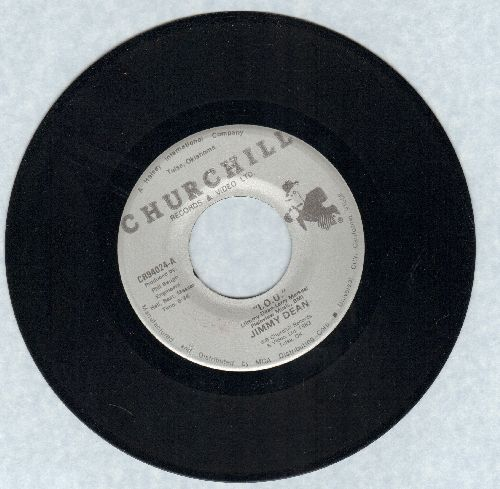 Dean, Jimmy - I.O.U. (TRIBUTE TO MOM -- TEAR JERKER!)/To A Sleeping Beauty (double-hit re-issue) - NM9/ - 45 rpm Records