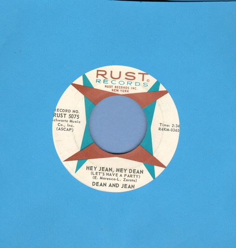Dean & Jean - Hey Jean, Hey Dean/Please Don't Tell Me Now  - EX8/ - 45 rpm Records
