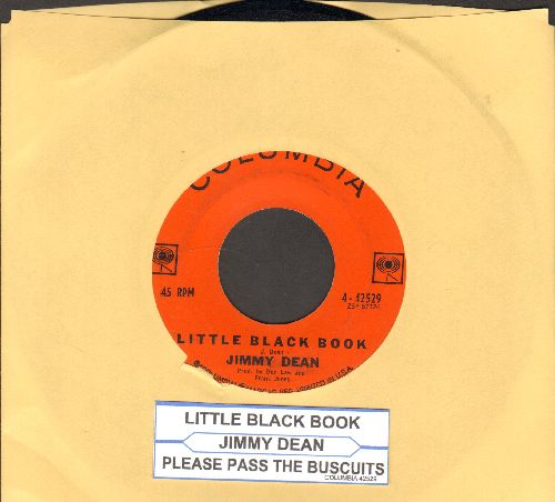 Dean, Jimmy - Little Black Book/Please Pass The Biscuits (with juke box label) - EX8/ - 45 rpm Records