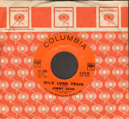 Dean, Jimmy - Mile Long Train/This Ole House (with vintage Columbia company sleeve) - NM9/ - 45 rpm Records