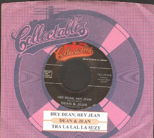 Dean & Jean - Hey Dean, Hey Jean/Tra La La La Lucy (double-hit re-issue with juke box label and compay sleeve) - NM9/ - 45 rpm Records