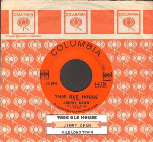 Dean, Jimmy - Mile Long Train/This Ole House (with juke box label and vintage Columbia company sleeve) - NM9/ - 45 rpm Records