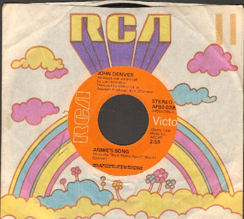 Denver, John - Annie's Song (You Fill Up My Senses)/Cool An' Green An' Shady (with RCA company sleeve) - EX8/ - 45 rpm Records