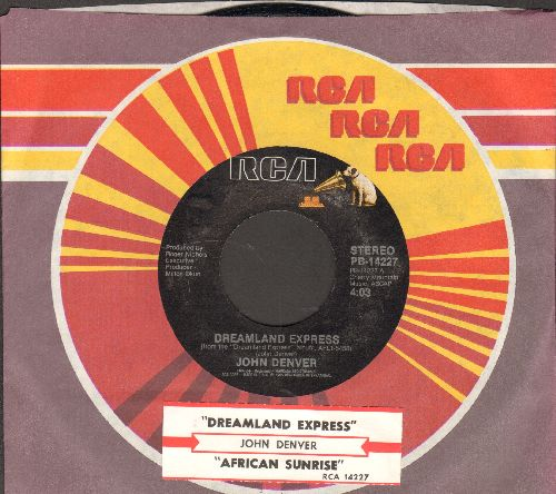 Denver, John - Dreamland Express/African Sunrise (with juke box label and RCA company sleeve) - NM9/ - 45 rpm Records