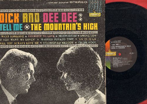 Dick & Dee Dee - Tell Me - The Mountain's High: Moon River, Unchained Melody, Mashed Potato Time (vinyl STEREO LP record) - EX8/VG7 - LP Records