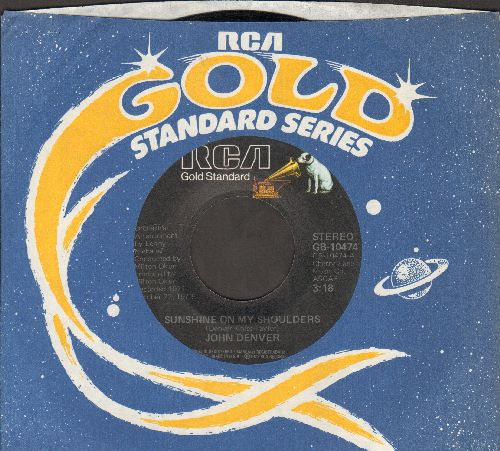 Denver, John - Sunshine On My Shoulders (Makes Me Happy)/Around And Around (double-hit re-issue with RCA company sleeve) - EX8/ - 45 rpm Records