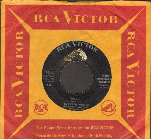 De Vorzon, Barry - Too Soon/Honey Bunny (with vintage RCA company sleeve) - EX8/ - 45 rpm Records