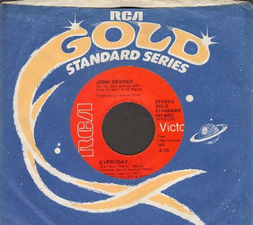 Denver, John - Everyday (VERY Pleasant cover version of Buddy Holly Classic)/Friends With You (double-hit re-issue with RCA company sleeve) - NM9/ - 45 rpm Records