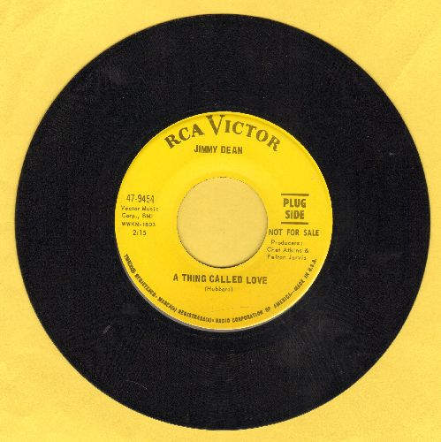 Dean, Jimmy - A Thing Called Love/One Last Time (DJ advance pressing) - EX8/ - 45 rpm Records