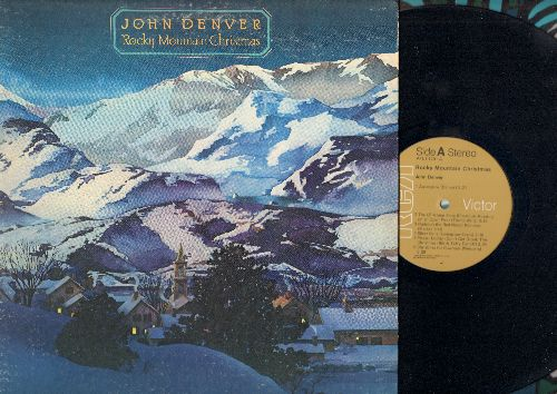 Denver, John - Rocky Mountain Christmas: The Christmas Song, Rudolph The Red-Nosed Reindeer, Silent Night, Christmas For Cowboys  (Vinyl STEREO LP record, gate-fold cover) - EX8/EX8 - LP Records