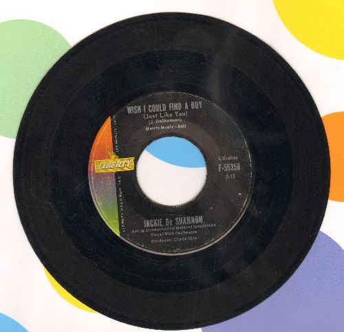 DeShannon, Jackie - Wish I Could Find A Boy (Just Like You)/I Won't Turn You Down - VG7/ - 45 rpm Records