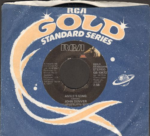 Denver, John - Annie's Song (You Fill Up My Senses)/Cool An' Green An' Shady (double-hit re-issue with RCA company sleeve) - EX8/ - 45 rpm Records