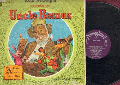 Disney - Uncle Remus - Walt Disney's Stories told by Uncle Remus (vinyl LP record, gate-fold cover with color picture pages) - VG6/VG6 - LP Records