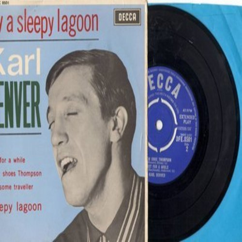 Denver, Karl Trio - Sleepy Lagoon/Lonesome Traveller/Snow Shoe Thompson/Just For Awhile (Vinyl EP record with picture cover, British Pressing, removable spindle-adapter) - NM9/EX8 - 45 rpm Records