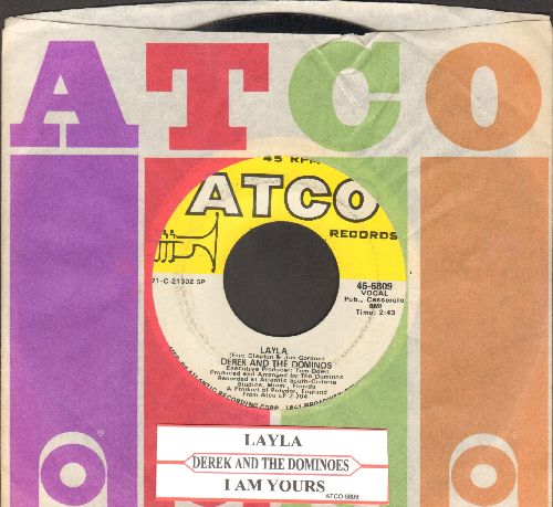 Derek & The Dominos - Layla/I Am Yours (with juke box label and Atco company sleeve) - EX8/ - 45 rpm Records