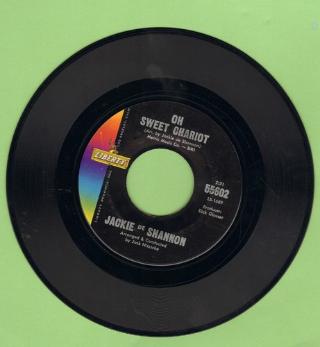 DeShannon, Jackie - Oh Sweet Chariot/Little Yellow Roses - NM9/ - 45 rpm Records