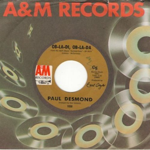 Desmond, Paul - Ob-La-Di, Ob-La-Da/Autumn Leaves (with A&M company sleeve) - EX8/ - 45 rpm Records