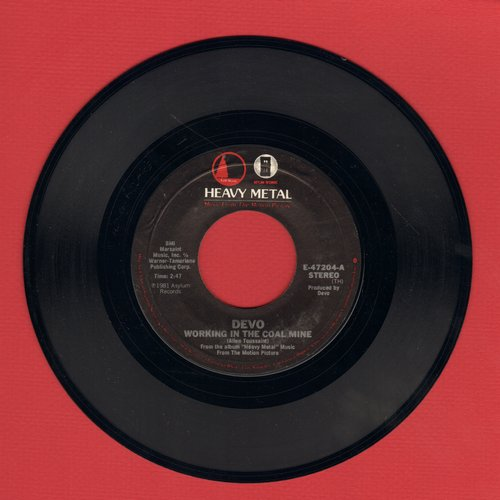 Devo - Working In The Coal Mine/Planet Earth - EX8/ - 45 rpm Records